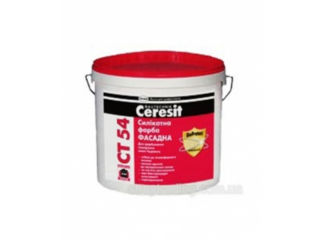 Фарба фасадна силікатна Ceresit CT 54 - 10л