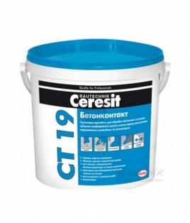 Бетоноконтакт Ceresit CТ 19 - Грунтовка адгезійна  10 л