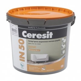 Фарба акрилова інтер'єрна Ceresit IN 50 - 10 л